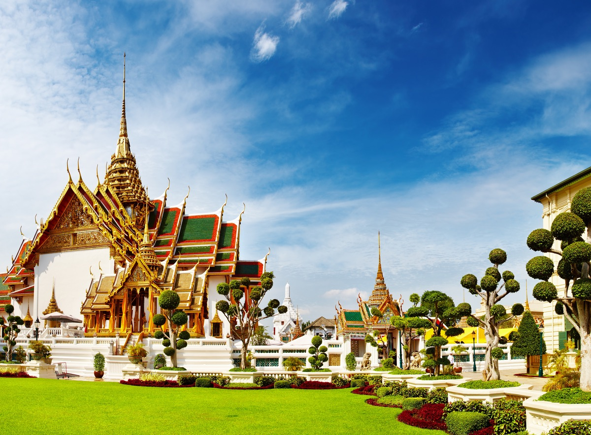 Traditional Thai architecture Grand Palace Bangkok