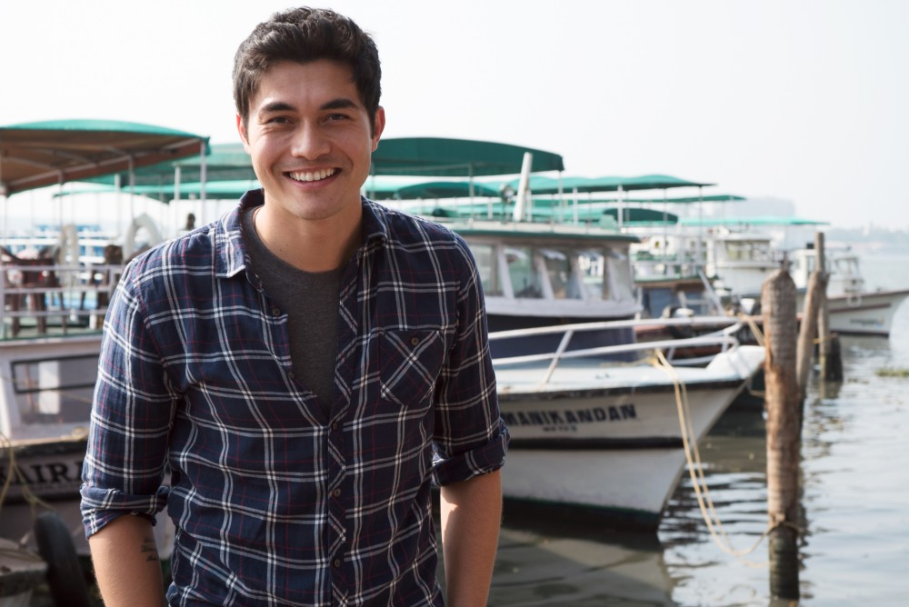 Picture Shows: Henry Golding travels to southern India to explore the backwaters of Kerala